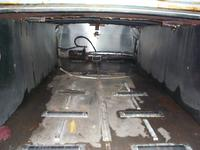 Inside Stainless Steel Casket Compartment