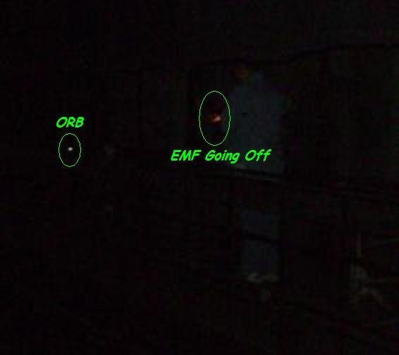 Orb with EMF detector going off